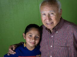 Escuela Popular History Jose and granddaughter